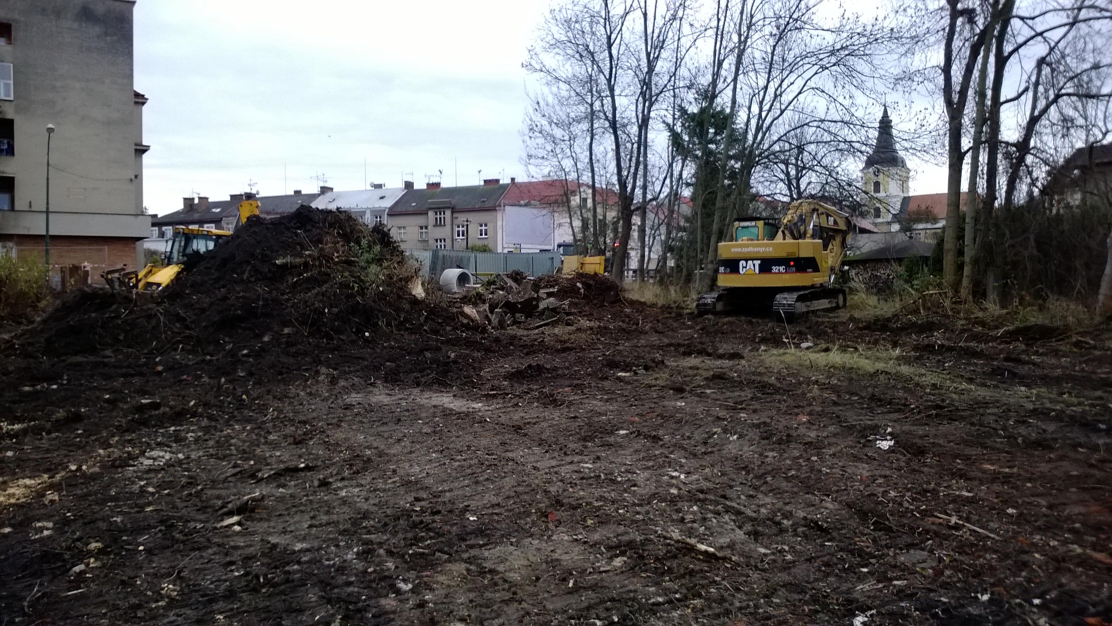 Bytový dům Ruská ul. - zahájení zemních prací